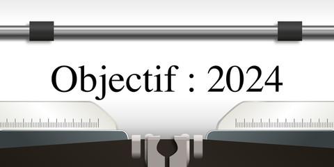 objectif - objectif 2024 - projet - challenge - 2024 - entreprise -stratégie - présentation - succès