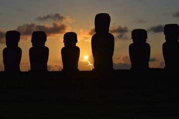 Amanecer en Easter Island