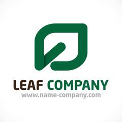 logo fleuriste feuille paysagiste artisan