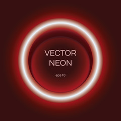 Wall Mural - Neon vector circle light, part of collection