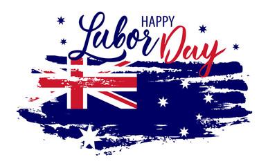 Happy Labor Day Australia. Vector australian holiday