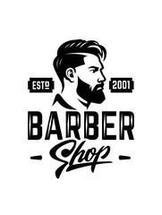 Barber shop label badge emblem.