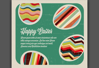 Weathered Retro Easter Content Layout