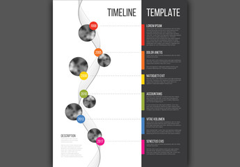 Vertical Spiral Timeline Infographic Layout