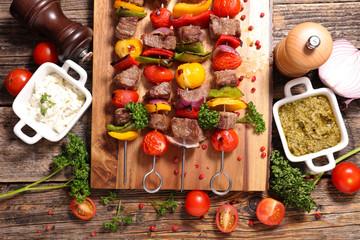 beef skewer barbecue