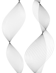 design element many wavy lines tape effect07