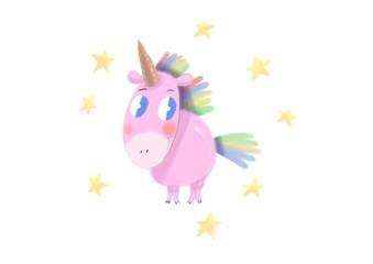 Isolated cute watercolor unicorn clipart. Nursery unicorns illustration. Princess unicorns poster.