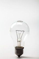 Light bulb on a white bckground