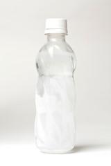 Ice water in bottle