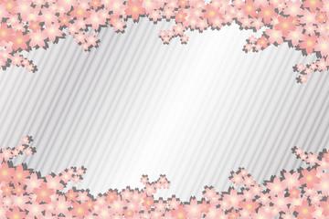 背景素材壁紙,春,桜の花びら,満開,木,さくら,和風,縞模樣,入学式,卒業式,お祝い,祝賀行事,風景