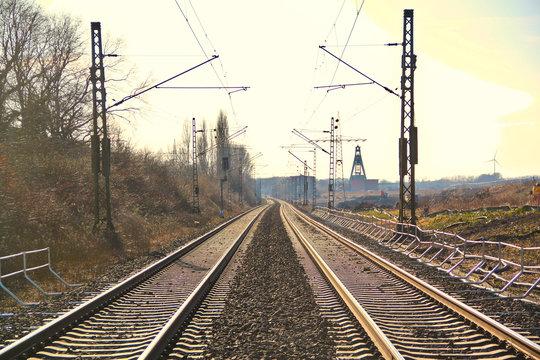 Eisenbahn Schienen Ruhrgebiet Pott Sonnenschein