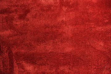 Tekstura miękkiego, czerwonego dywanu.