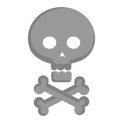 skull with bones crossed vector illustration design