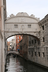 Venice Italy bridge of sighs historical building