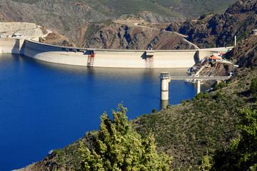 dam of Atazar reservoir,Spain