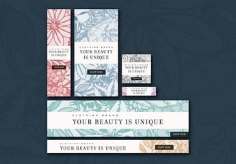 Floral Web Banner Layout Set 1