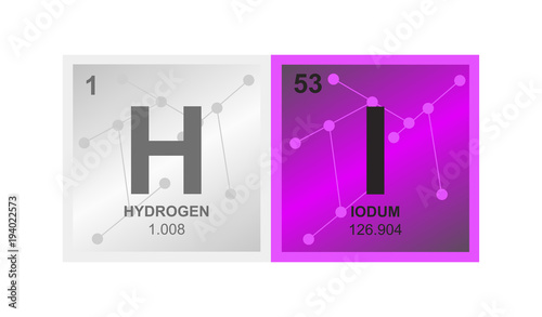 Vector Symbol Of Hydroiodic Acid Or Hydrogen Iodide Which Consists