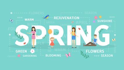 Spring concept illustration.