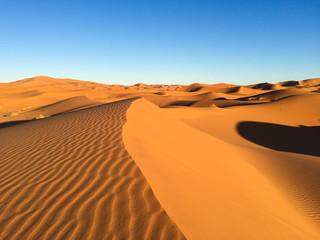 Sahara dunes in Merzouga, Africa - The grand Dune of Merzouga