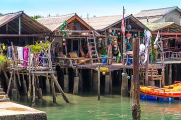 The Saladan pier in the main village San Saladan on Ko Lanta, Thailand. All boats and ferries arrive here
