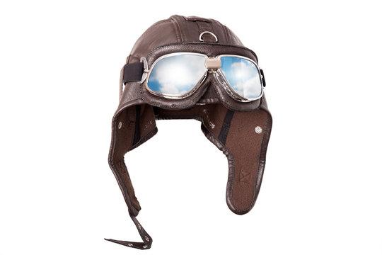 vintage pilots cap on white
