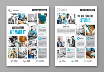 Photo Grid Business Flyer Layout 1