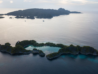 Limetone Islands of Penemu in Raja Ampat