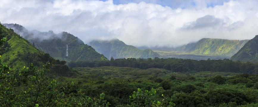 Waterfalls on the Hana Road in Maui, Hawaii