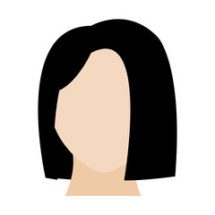 avatar woman head with default face