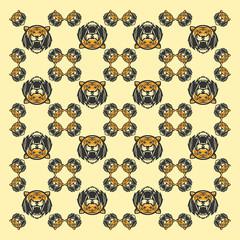 tiger head pattern