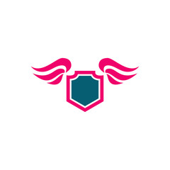 shield with wing logo design, use this design for your business