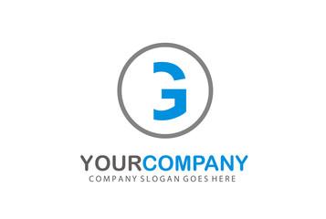 Circle Logo Letter G Vector Design