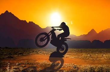 Door stickers Motor sports Motorbike trial rider