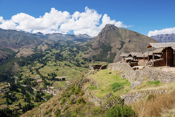 Scenic view of Sacred Valley against sky