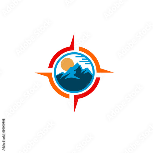 compass mountain logo stock image and royalty free vector files on