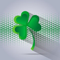 Happy Saint Patrick s Day celebration card with clover leaf.