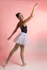 Ballet dancer female posing in ballet poses