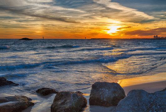 Sunset on Orange Beach Alabama