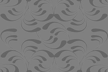 Seamless Flourish Grayscale Pattern
