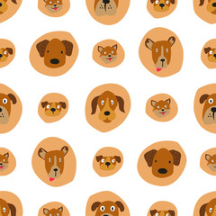 dog face seamless
