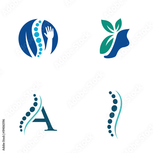 Physical Therapy Logo Vector Icon Illustration Collection Stock