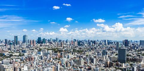 東京 青空と都市風景