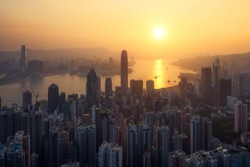 Wall Mural - Hong Kong lever du soleil