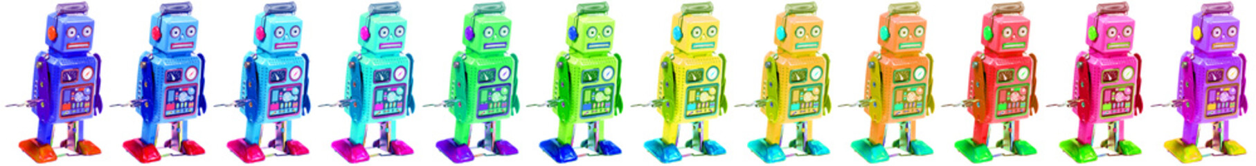 collection de robots couleurs