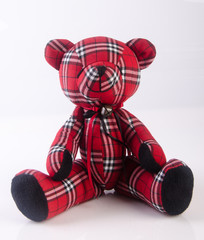 toy or cute toy bear on a background.