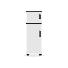 Double Door Refrigerator Illustration