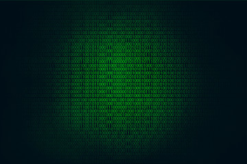 Binary code hacker green background, Coding or Hacker concept.