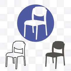 Chair Icon. Chair sign