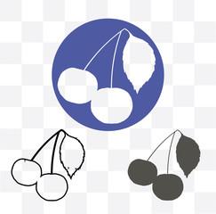 Cherry - vector icon