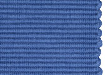 materiał tkany żakard narzuta obrus niebieski macro